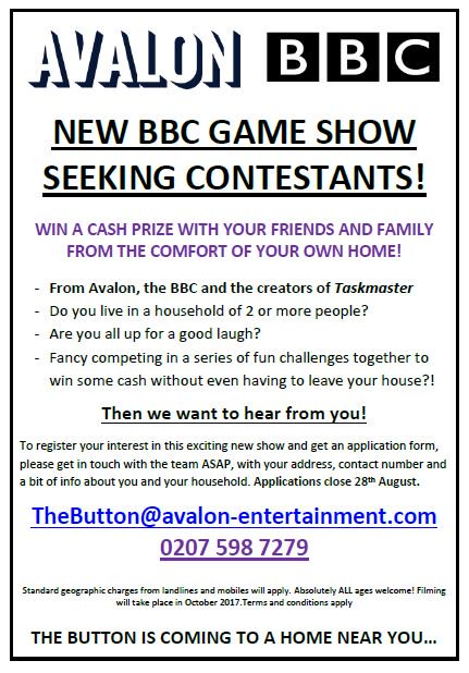 Beda Tv Casting On Twitter Getontelly New Bbc Tv Gameshow