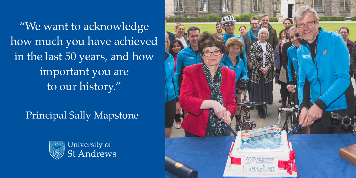 Congratulations to our friends @dundeeuni - celebrating 50 years of independence from @univofstandrews today! #dundeeuni50 #academicfamily<br>http://pic.twitter.com/5PbJP3yswY