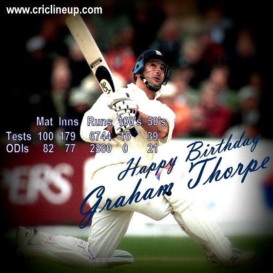 Criclineup wishes Graham Thorpe A Very Very Happy Birthday