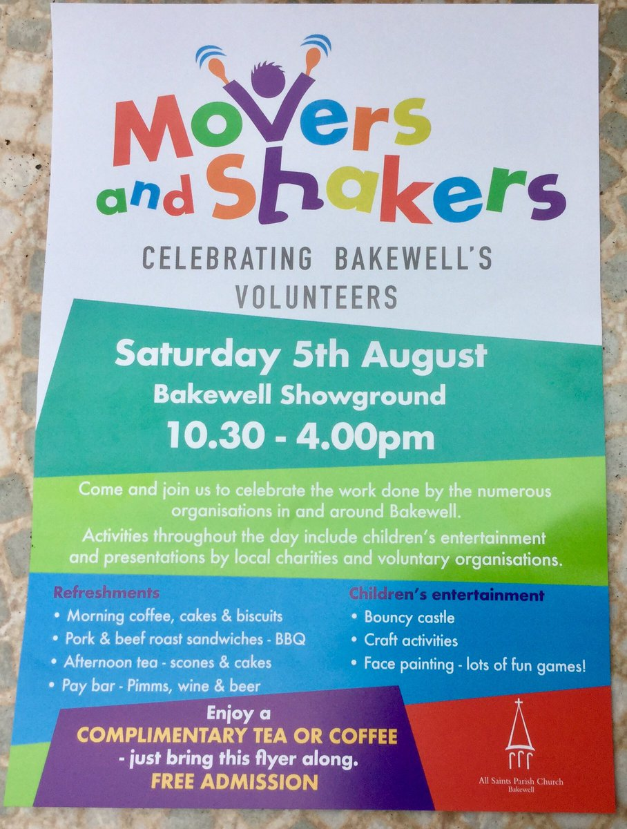 "susan & john on twitter: ""#moversandshakers #bakewell"