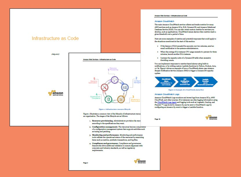 New #AWS White Paper - Infrastructure as Code - https://t.co/KuCbIqN0Hf https://t.co/FHB8ntwdoS