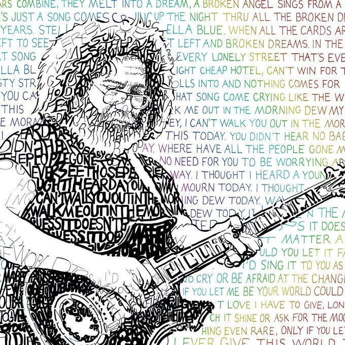 Jerry Garcia would have been 75 today...happy birthday!!!