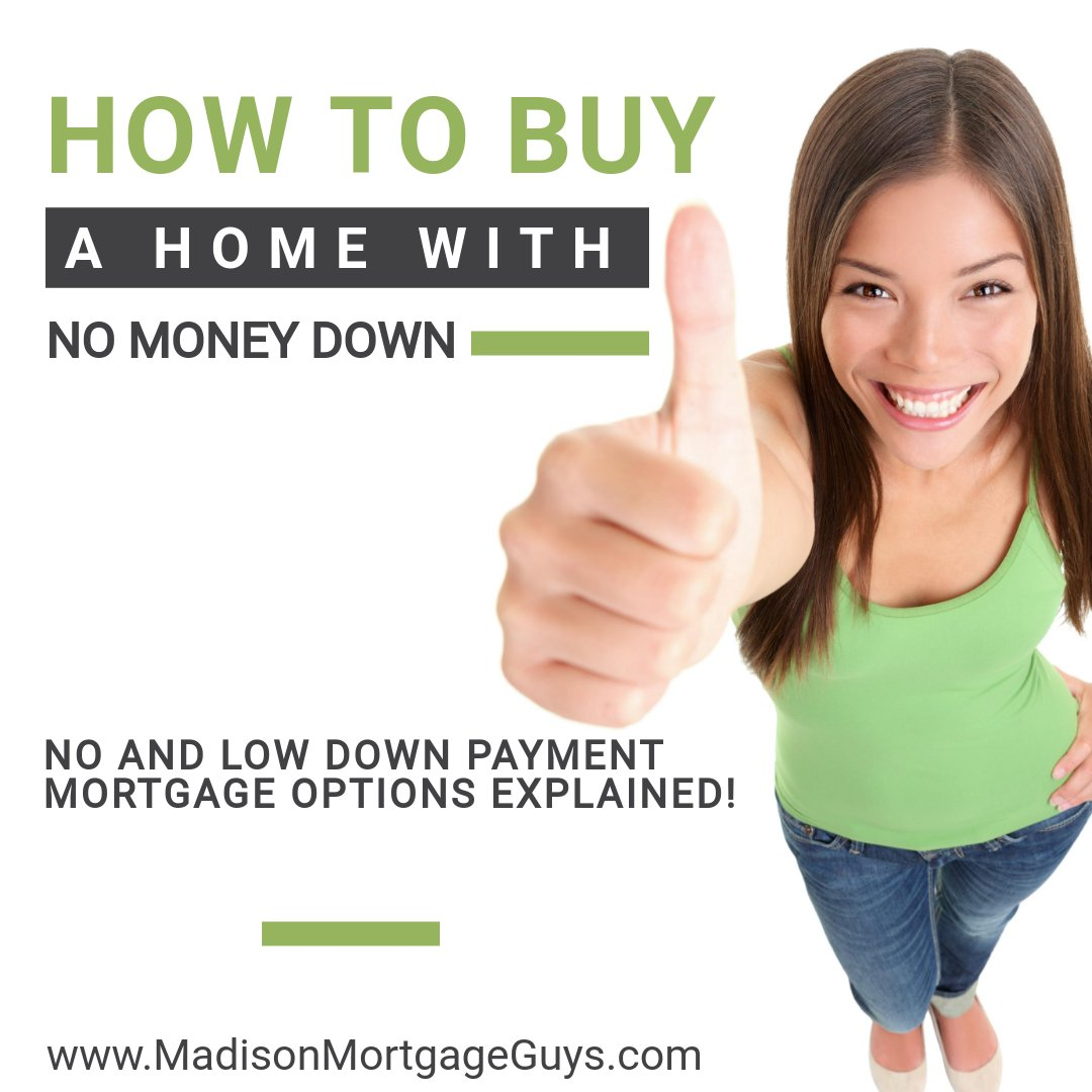 How To Buy A Home With No Money Down https://t.co/mO8ZpsGI07 #RealEstate #MortgageUpdated via @MadisonMortgage https://t.co/8gU5XgX5ac