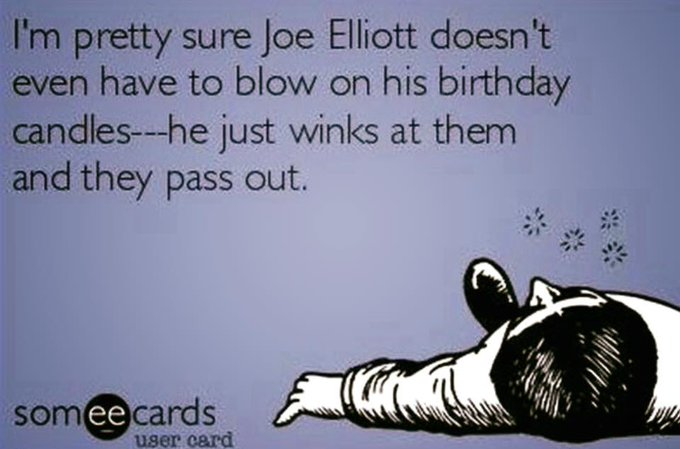 My favorite frontman still has it going on. Happy Birthday, Joe Elliott!