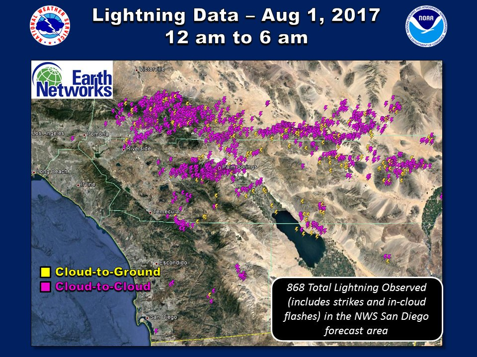 kesq news channel 3 on twitter lightning strikes a total of 868