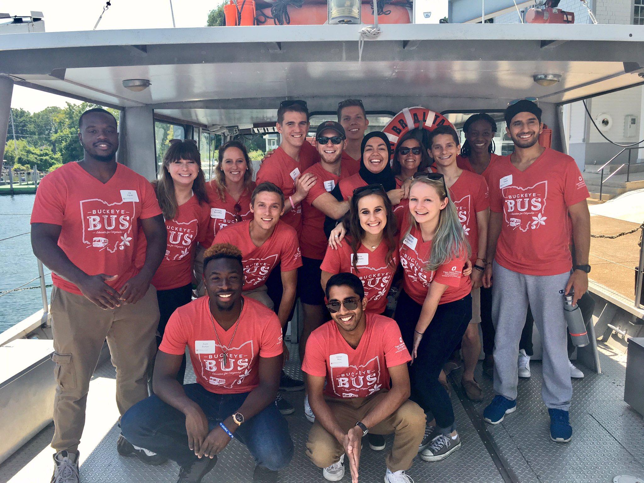 Buckeye Bus or Buckeye Boat? 🤔 #BuckeyeBus #OhioStateTour https://t.co/OIhJwomJF7