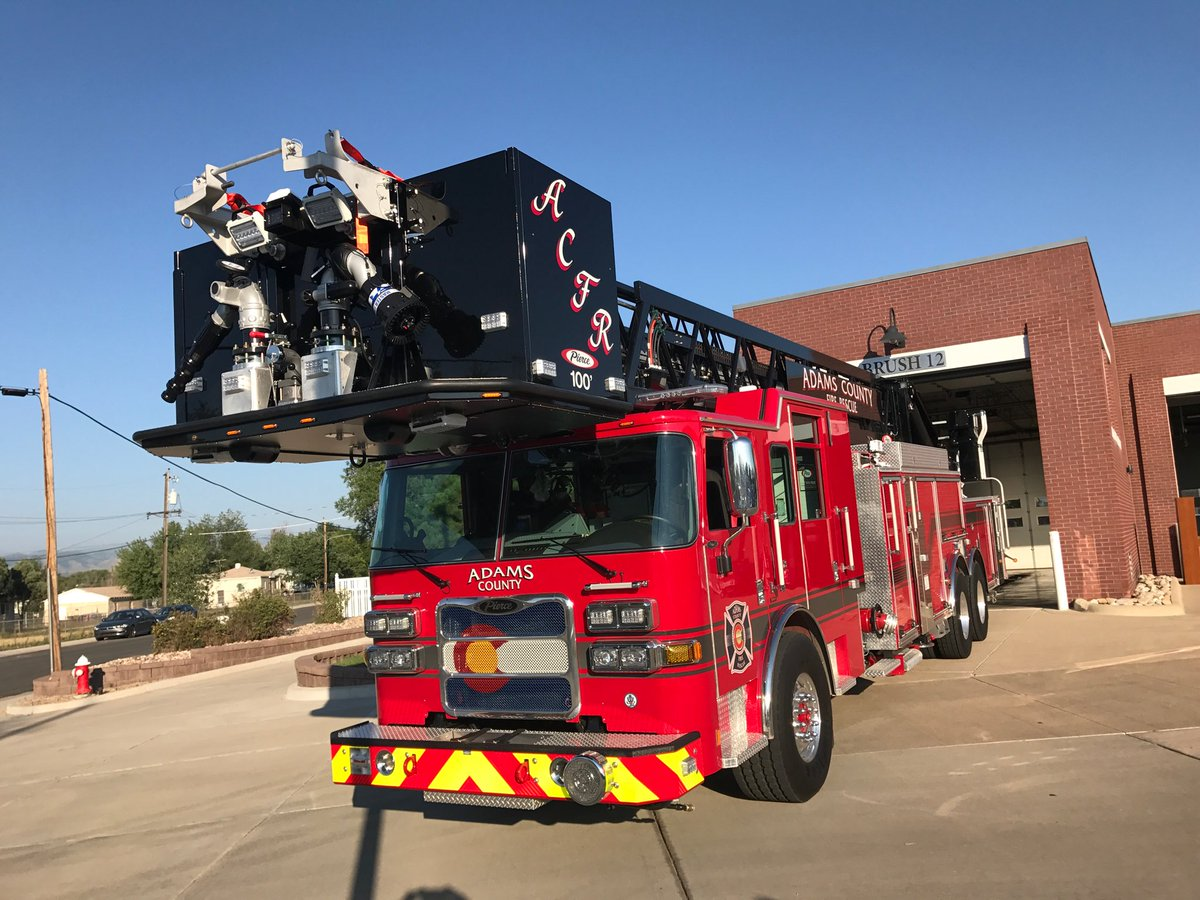 "Adams County Fire on Twitter: ""Adams County Fire Rescue places new Tower 11 in service today!… """