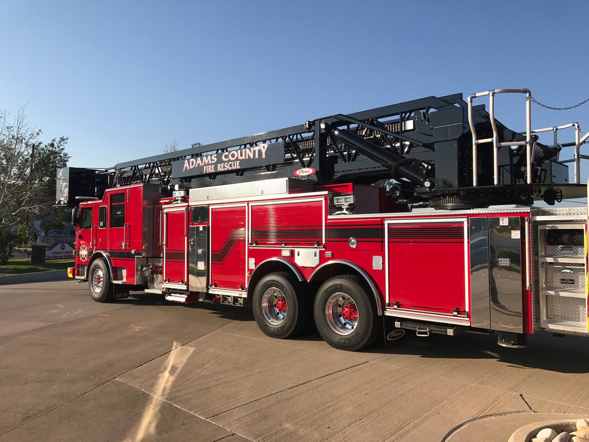 """Adams County Fire on Twitter: """"Adams County Fire Rescue places new Tower 11 in service today!… """""""
