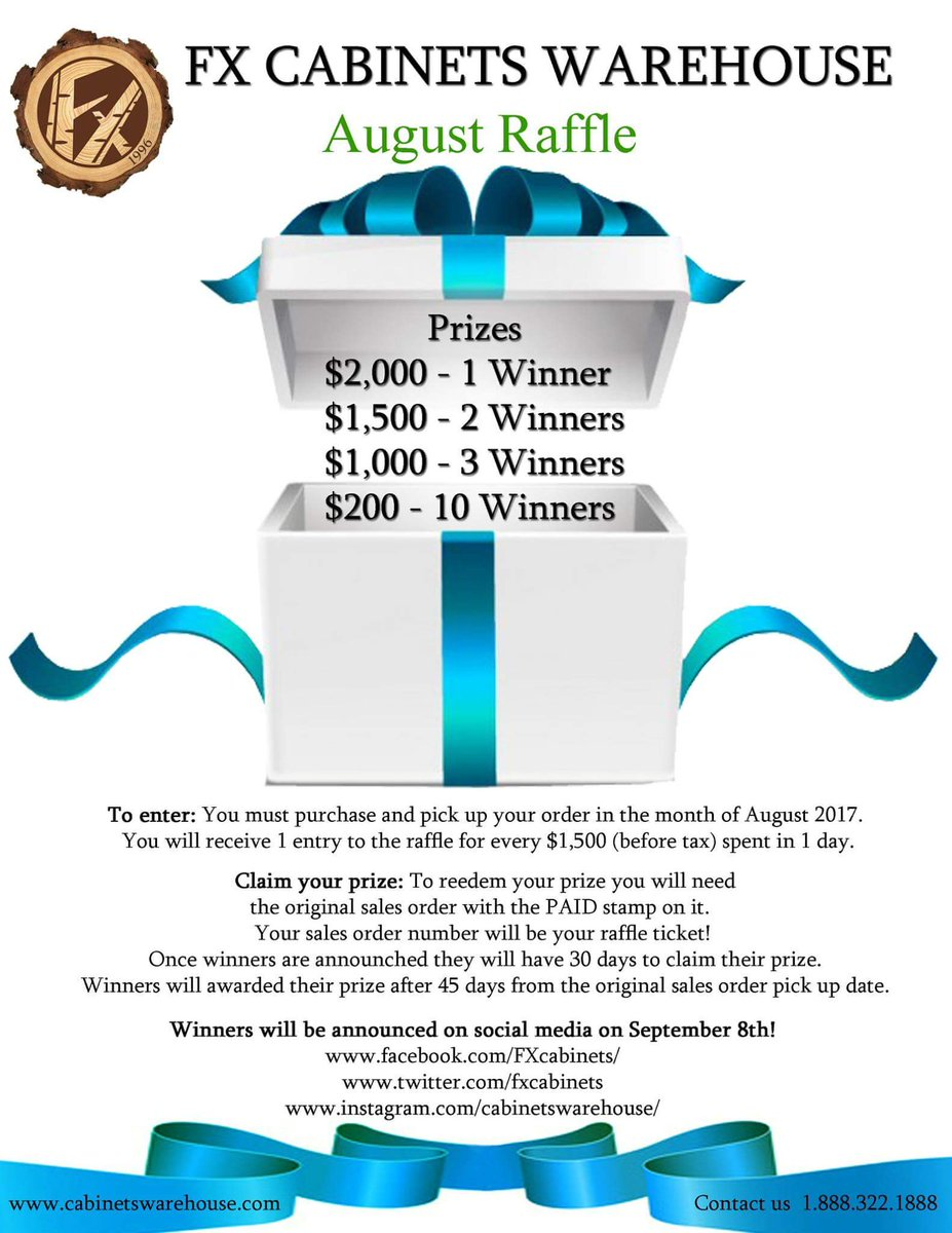 Stop By To Enter For A Chance To Be One Of The 16 Lucky  Winners!pic.twitter.com/XAdONKF3lQ U2013 At Cabinets Warehouse