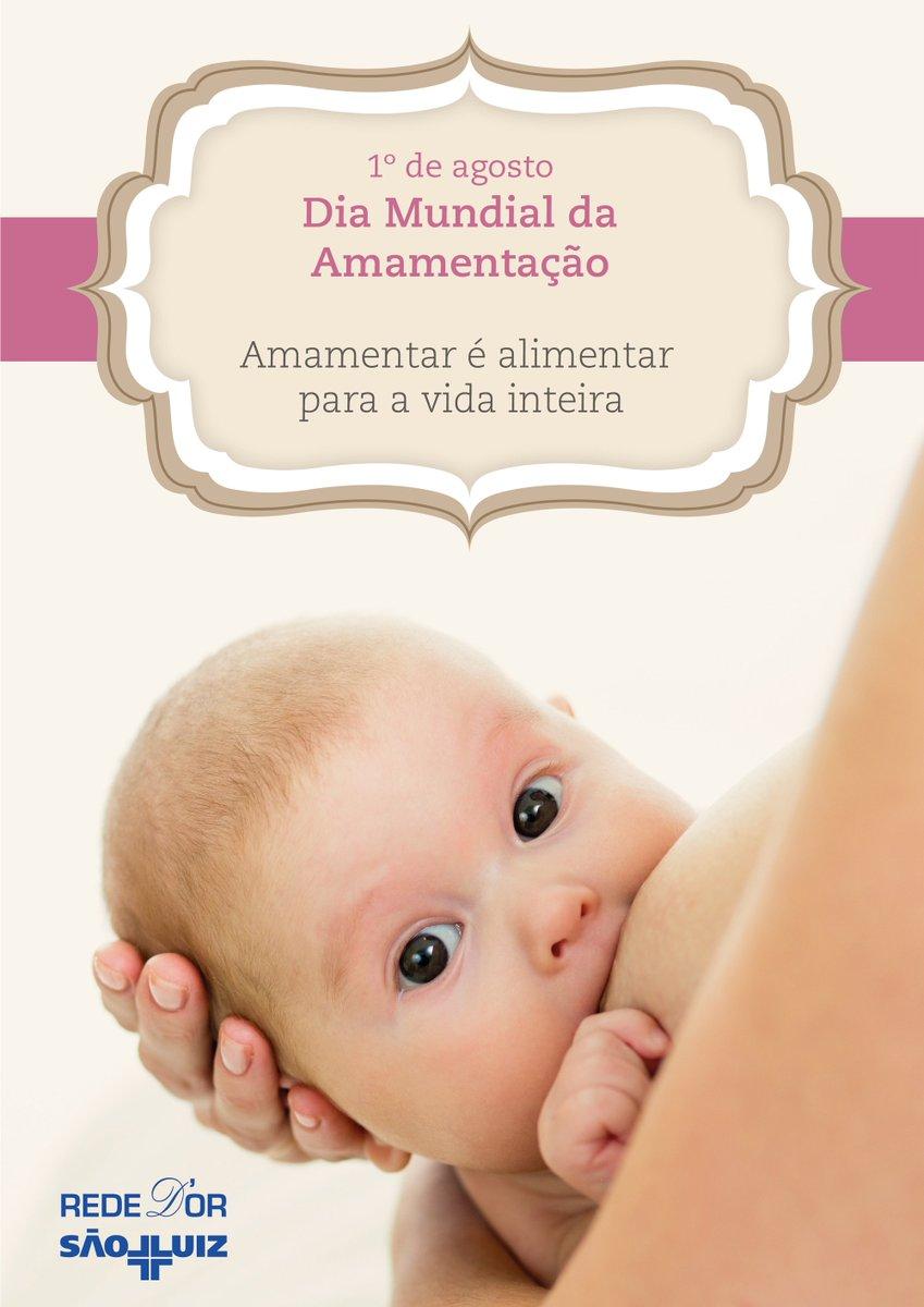 """Hoje é o Dia Mundial da Amamentação! Este ano, o tema da Semana Mundial do Aleitamento Materno é """"Trabalhar juntos para o bem comum'"""