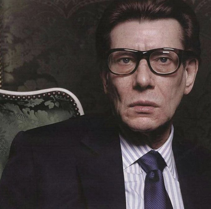 Happy birthday to the greatest couturier of our time Mr Yves Saint Laurent