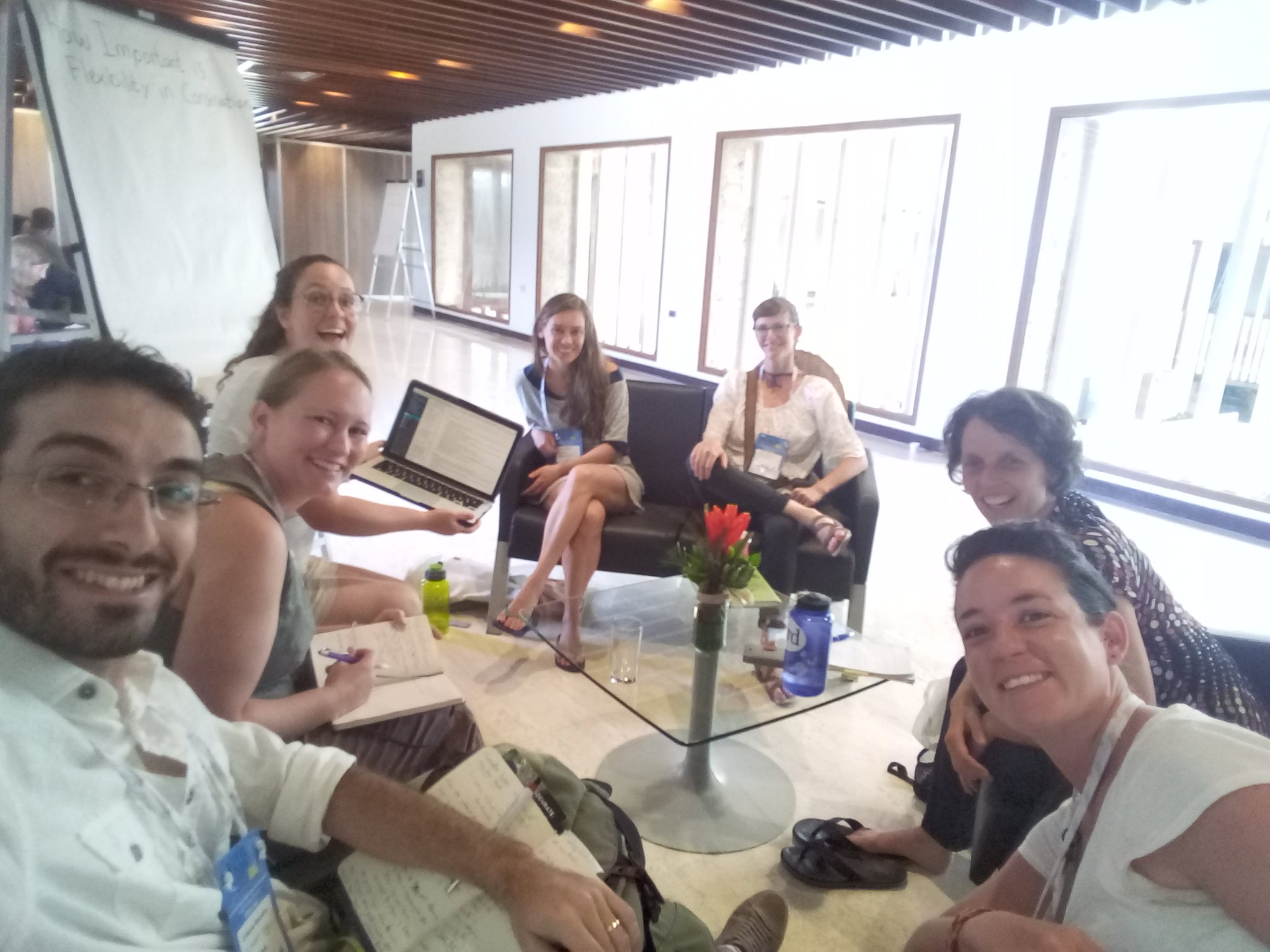 How important is flexibility in conservation? Very nice discussion with researchers from Australia, Colombia, Germany, Brazil,USA. #ICCB2017 https://t.co/f4EpawqDpx