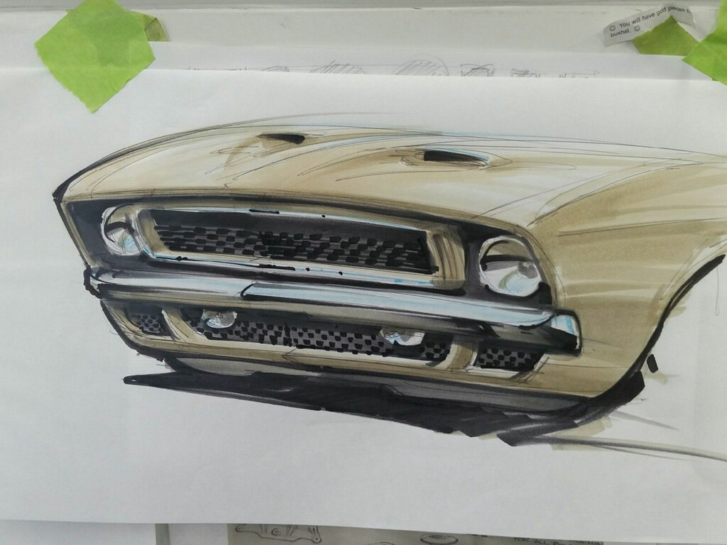 #MachFoose grille concept design rendering. Still playing around with a final idea or two.