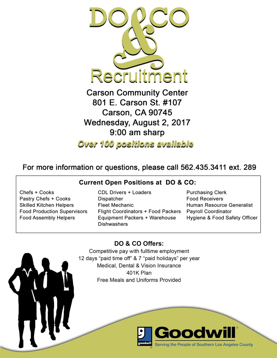 Goodwill Solac On Twitter We Are Hosting A Job Fair At The Carson