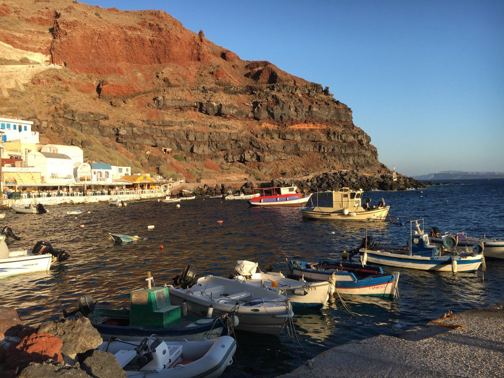 We're finding #Santorini a bit overwhelming after authenticity of #Milos, #Folegandros, but nature doesn't disappoint https://t.co/irwbgy5k3b