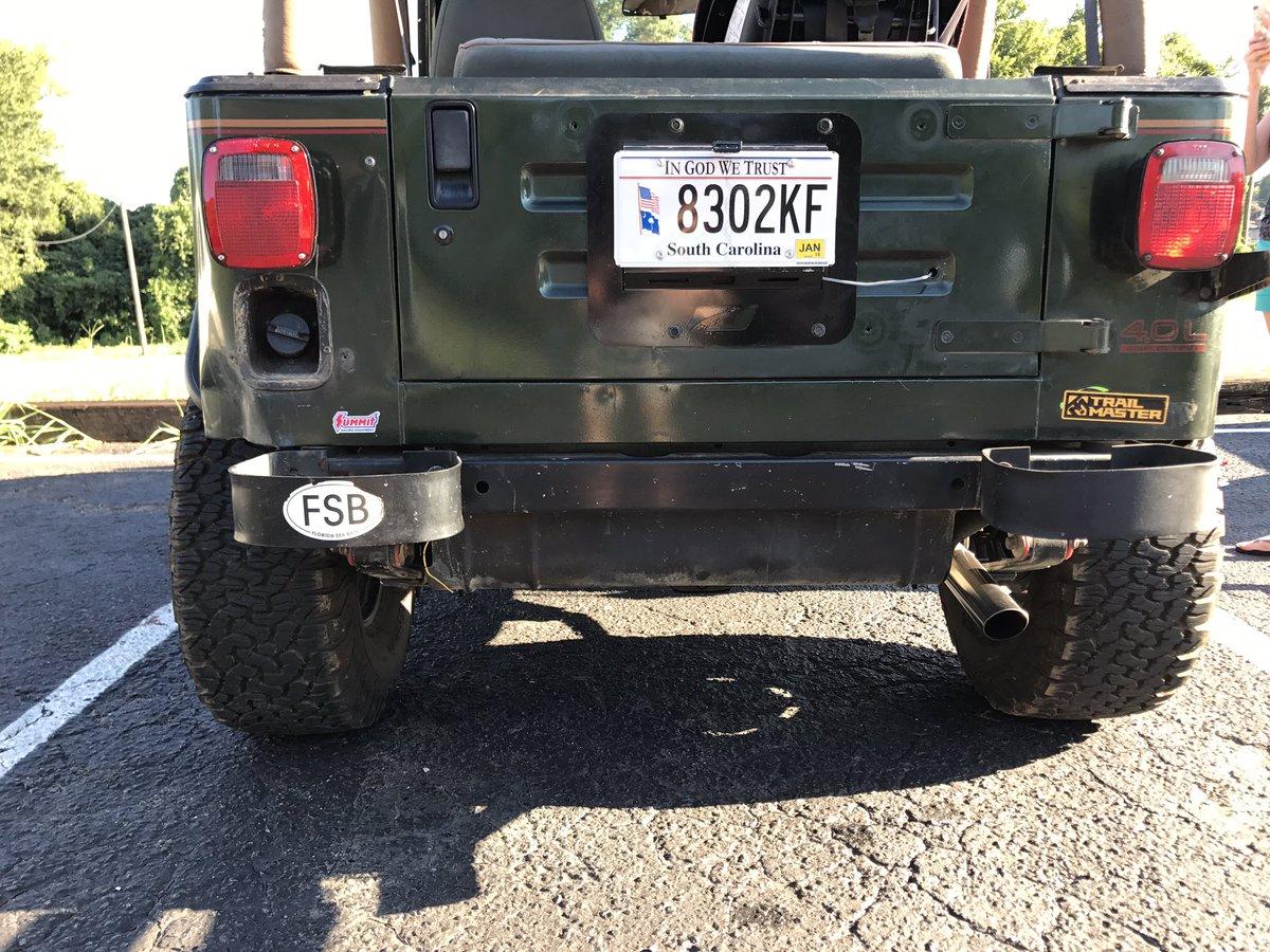 Looking rear end