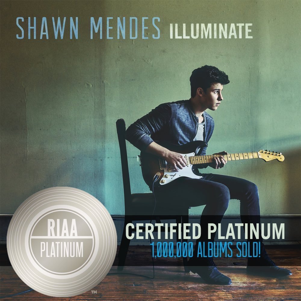 Also, Illuminate has gone platinum and thats unbelievable! Thank you so much for this! X