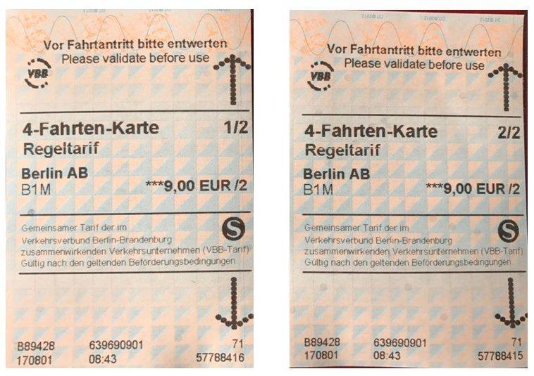 4 Fahrten Karte Bvg.S Bahn Berlin On Twitter Bitte Rt Noch Nicht Jeden