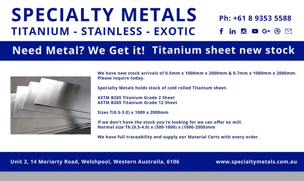 Specialty Metals (@SpecMetAu) | Twitter