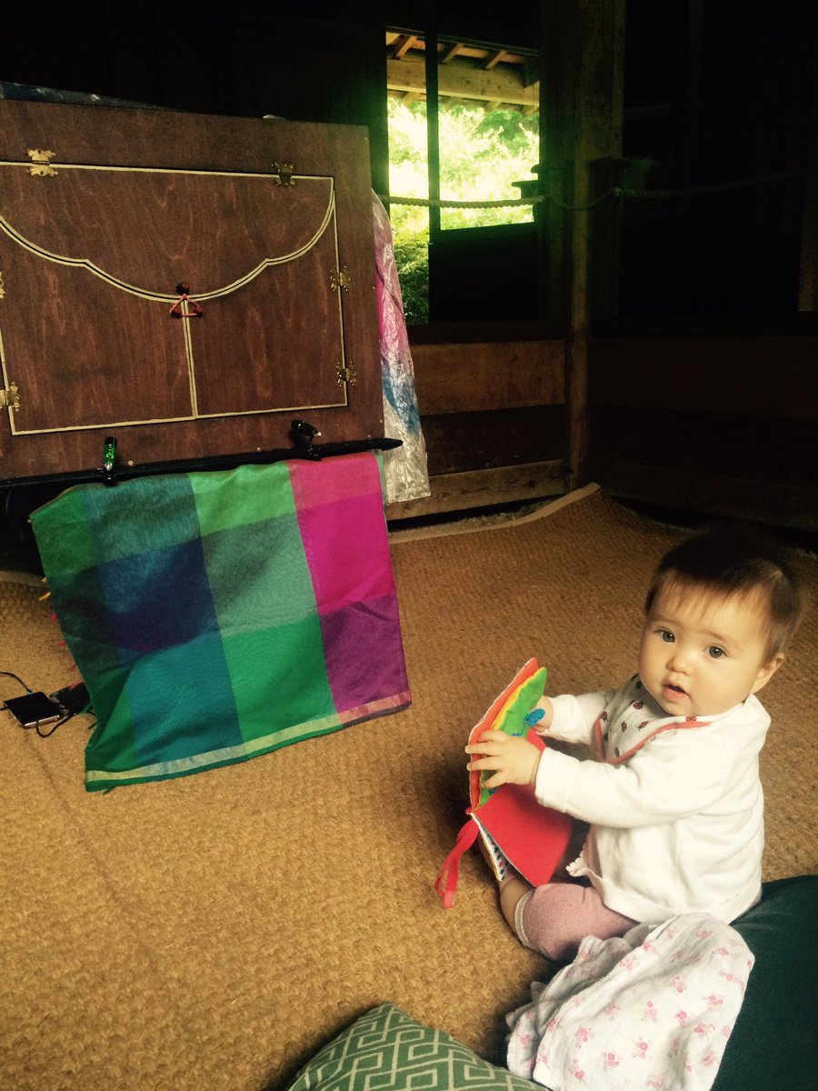 First audience member waiting for #Tanabata #Kamishibai #starfestival  @kewgardens<br>http://pic.twitter.com/xS2M6lSLMH
