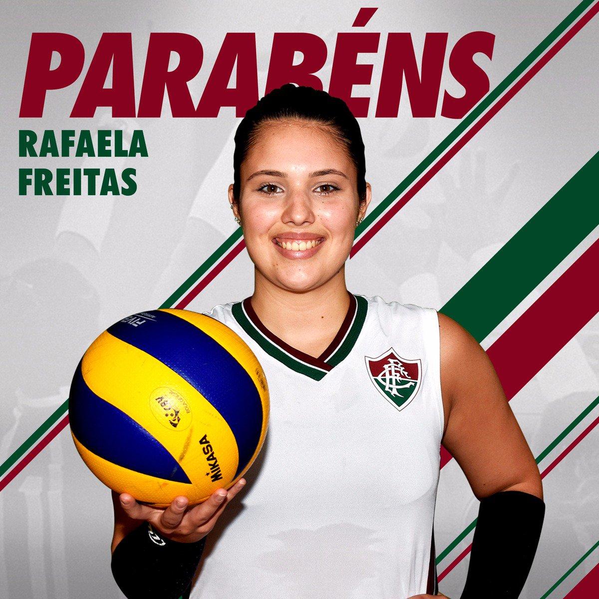 Hoje é aniversário da levantadora Rafaela Freitas. Feliz aniversário! #SomosFluminense