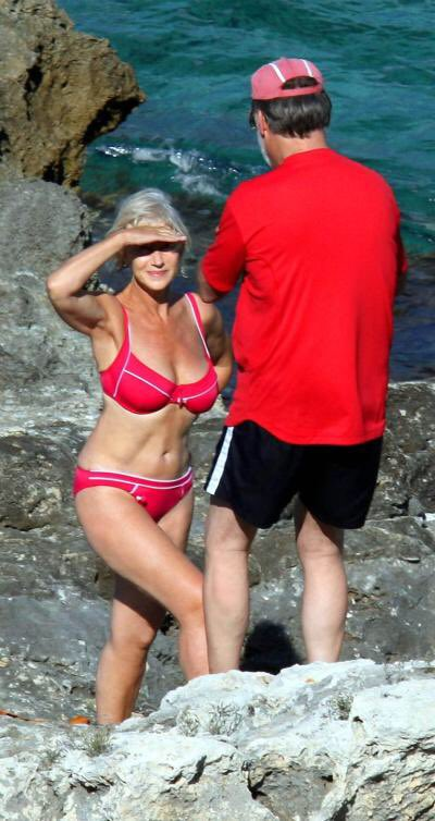Helen Mirren Red Bikini 2008
