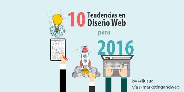 10 Tendencias en Diseño Web para 2016 + Ejemplos https://t.co/HkqVjQdGkU vía @marketingandweb #CommunityManager #SM https://t.co/RKffjMzcY7
