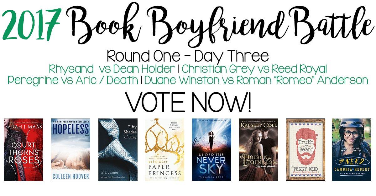 Today in our BOOK BOYFRIEND BATTLE! Vote NOW!  http:// mereadalot.net/2017/08/02/boo k-boyfriend-battle-day-three/ &nbsp; …  #BBB17 <br>http://pic.twitter.com/0yoVkk5Hni