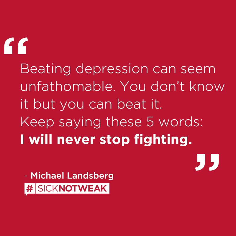 Keep fighting for your happiness. #FFYH #SickNotWeak
