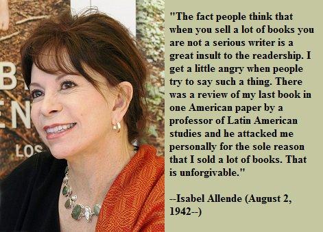 Happy birthday, Isabel Allende!