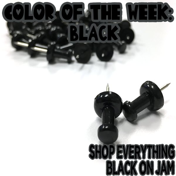 Color of the week is Black!! #coloroftheweek #black #jampaper #pushpins #shopjam<br>http://pic.twitter.com/9roeEu66IC