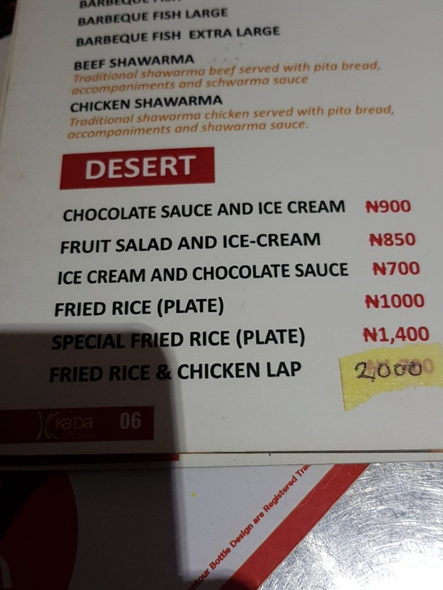 Just wanted to eat in peace but here's my menu for dessert. Benin why? https://t.co/krjYEx4qvT