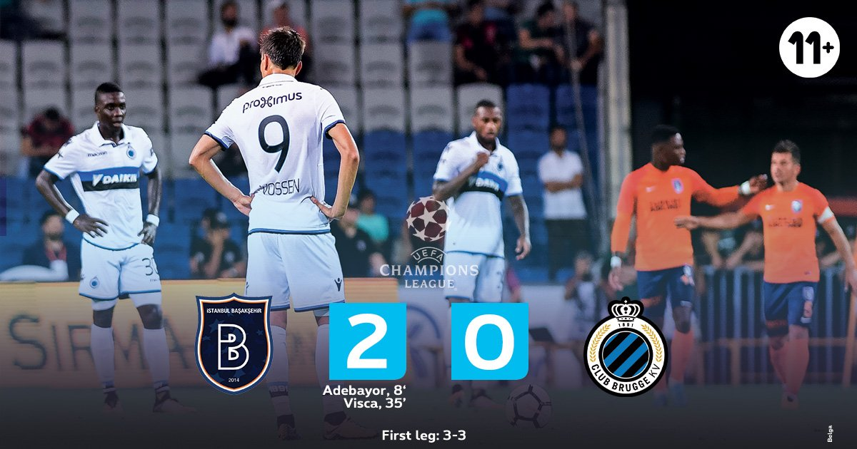 .@ClubBrugge is out of the UEFA Champions League... Basaksehir was too strong. #bascku #pxs11 #youneverwatchalone<br>http://pic.twitter.com/rjnP9j5oJu