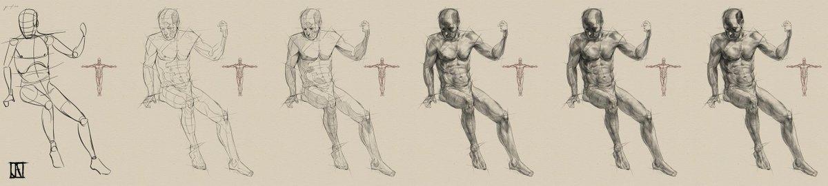 Art Of Juan Angel On Twitter Figure Drawing Process Draw Anatomy