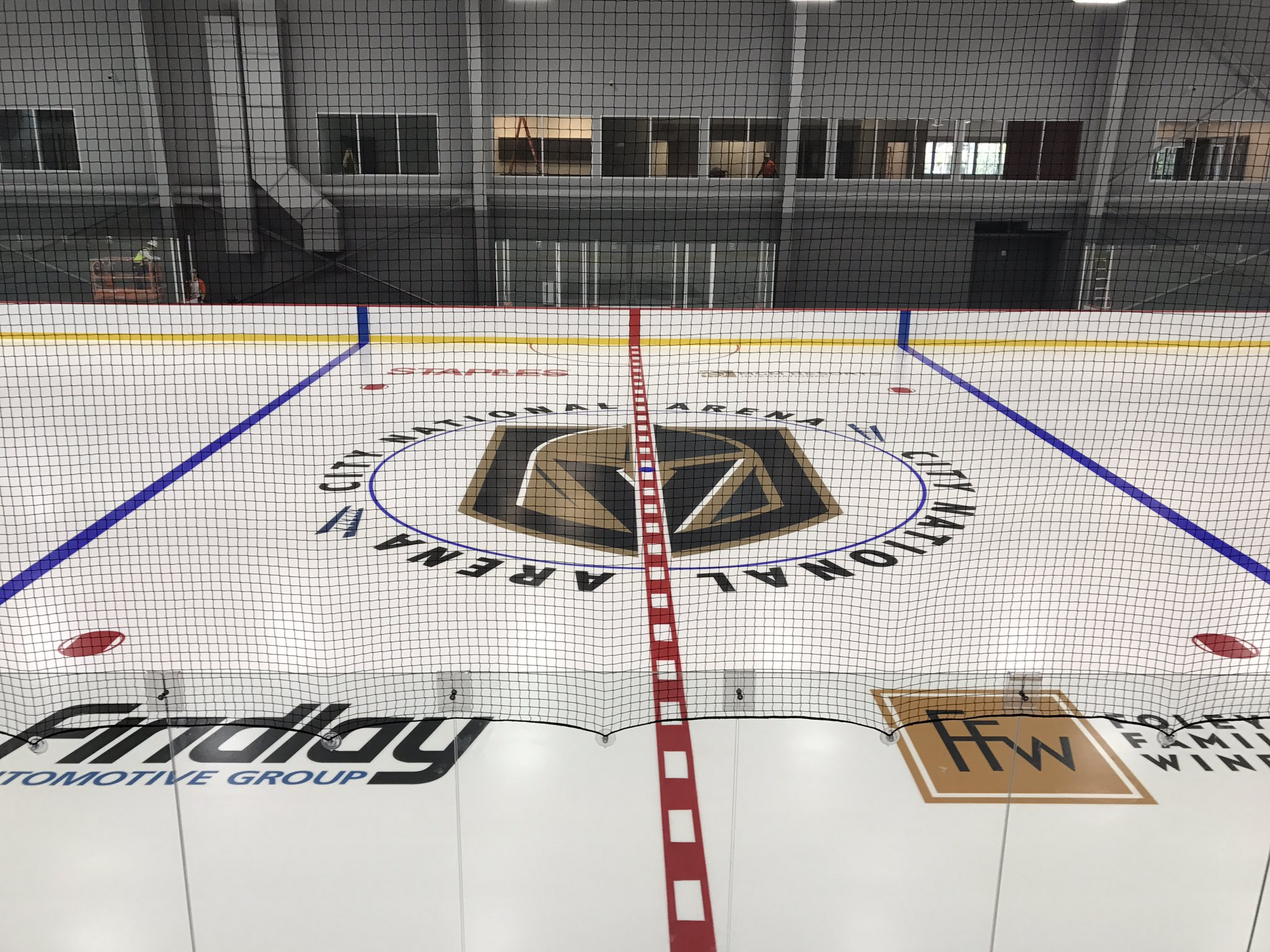 There Is A Sheet Of Ice At City National Arena In Las Vegas