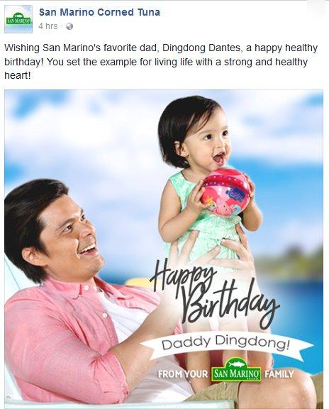 A happy healthy birthday to San Marino\s favorite dad, Dingdong Dantes,