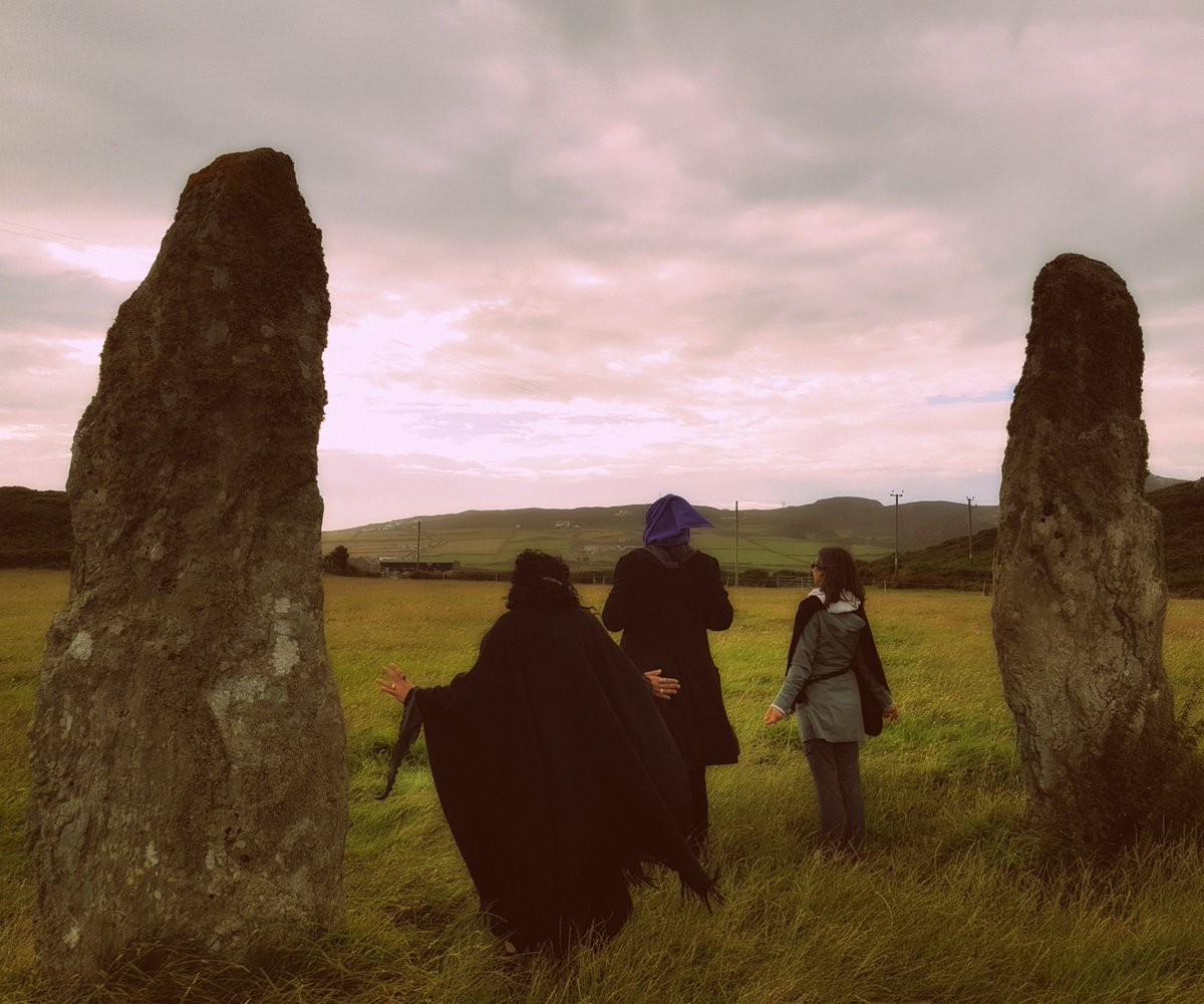 Visitors from the USA & Canada enjoying the treasures of the island. #ancient #anglesey #carumôn