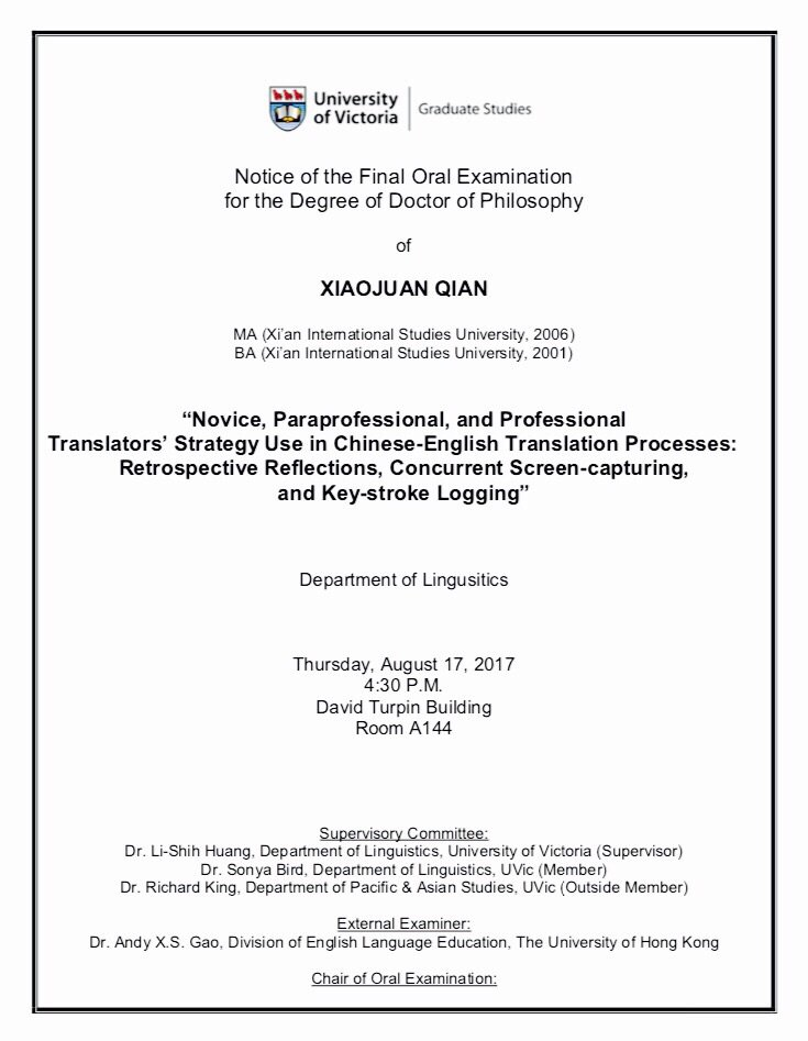 uvic thesis defence