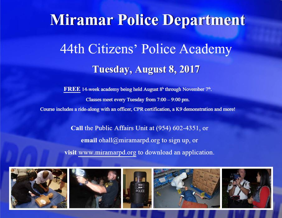 Miramar Police On Twitter Its Still Not To Late To Register For