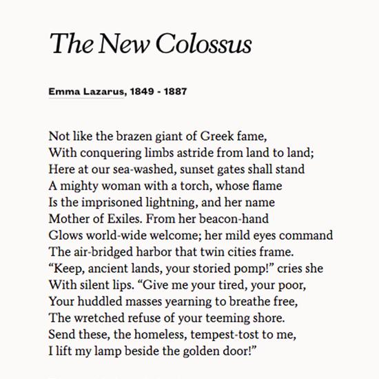 Poetsorg On Twitter Emma Lazaruss The New Colossus