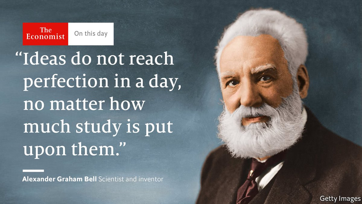 The Economist On Twitter Alexander Graham Bell Died Onthisday