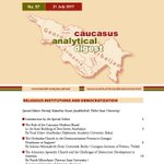 Caucasus Analytical Digest: Religious Institutions and Democratization - can be downloaded for free from https://t.co/a8KI50aL5y