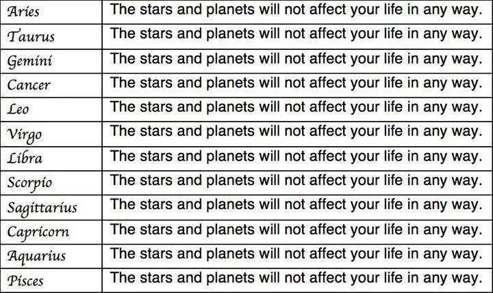 scientifically accurate horoscope