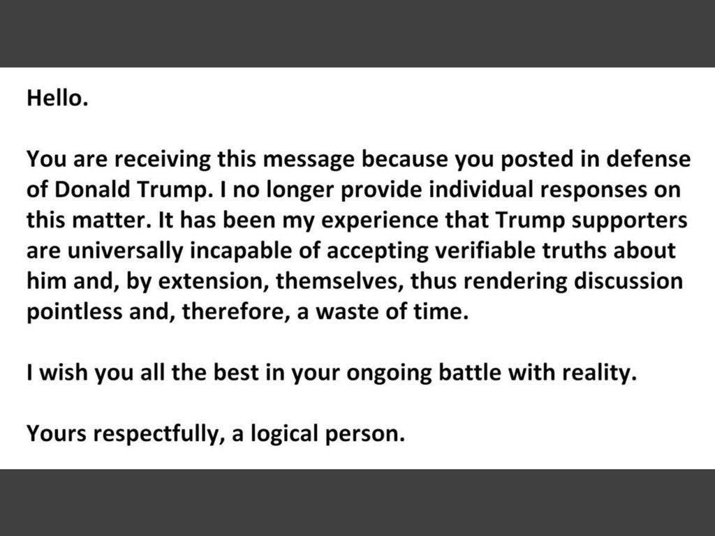 Image result for hello you are receiving this message trump