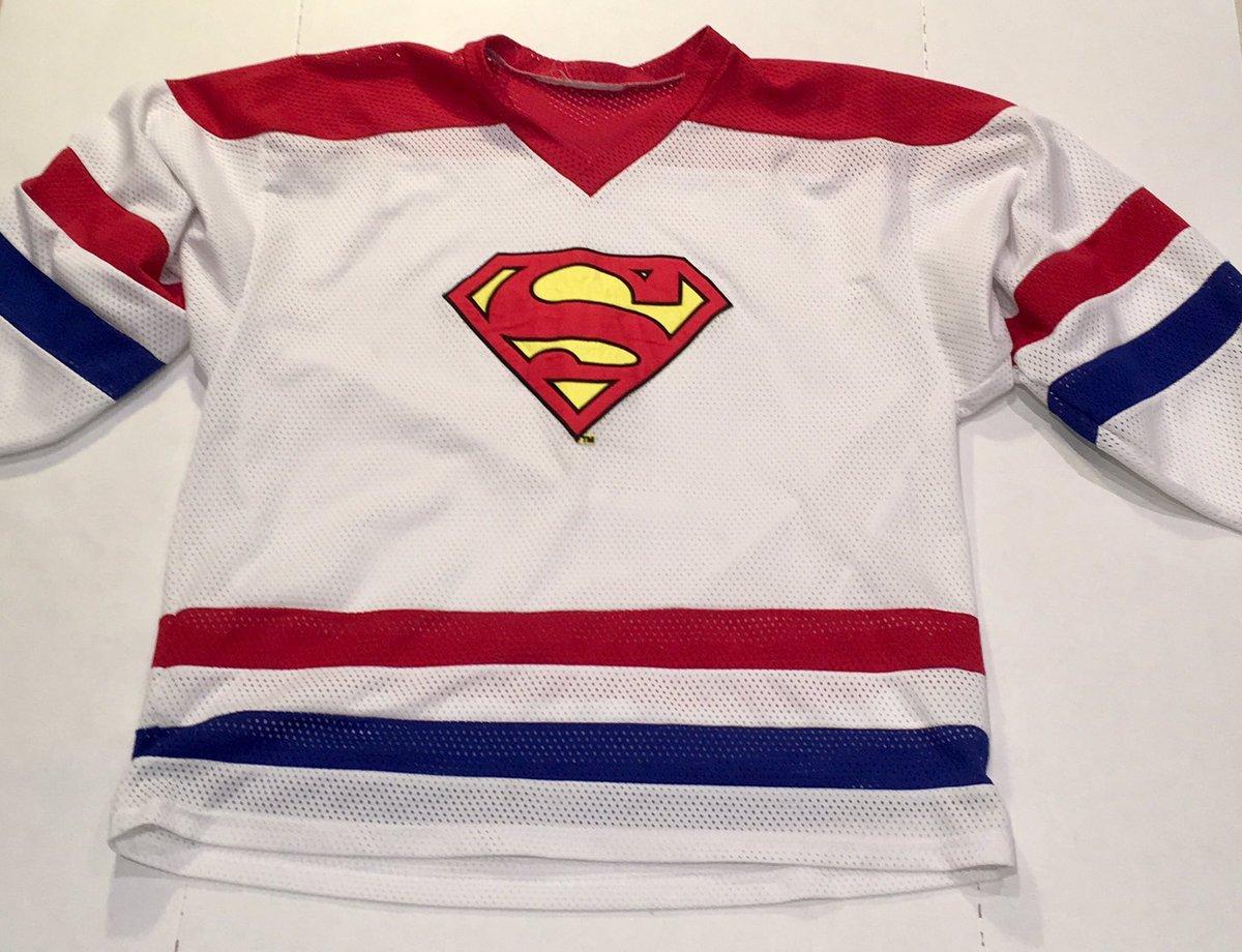 FOR SALE  15.00  Superman Hockey Jersey (Size L) 🔥👀 DCcomics Tweet ... 0a59de614a0
