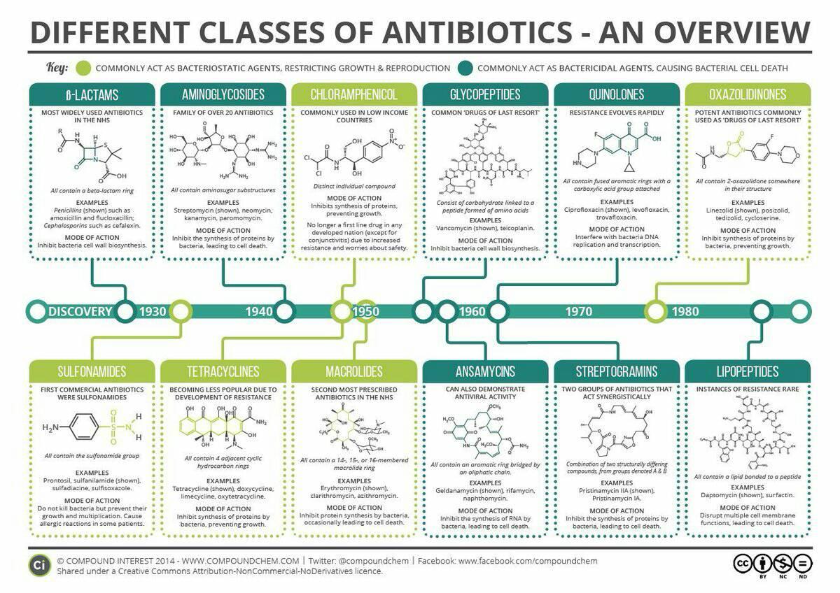 Dr Khalid Al Quthami On Twitter انفوجرافك جميل عن تقسيم وانواع المضادات الحيويه وطريقة عملها Salemsuad24