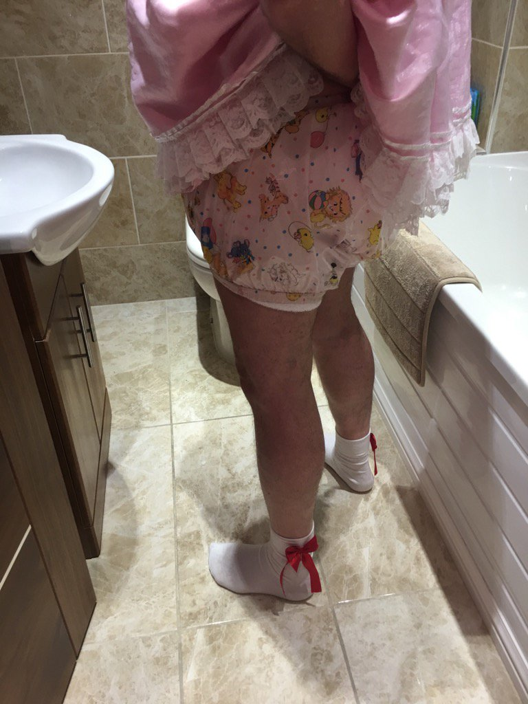 The new #abdl #sissy socks being worn he...