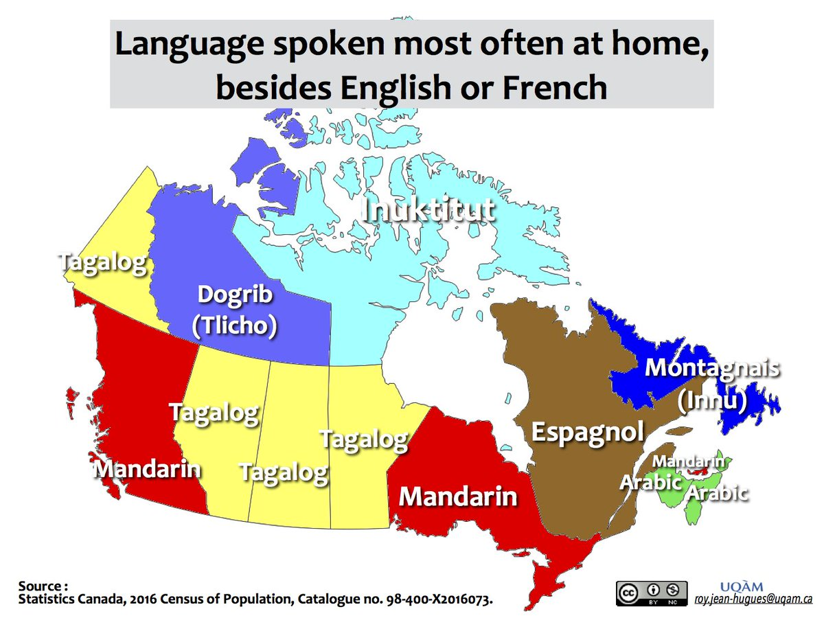 Map Of Canada Languages.Jean Hugues Roy On Twitter Digging 2016census Data To Map