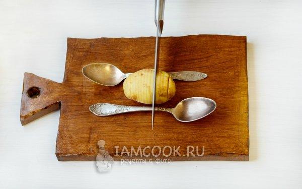 Рецепт картошка с мясом и шампиньонами