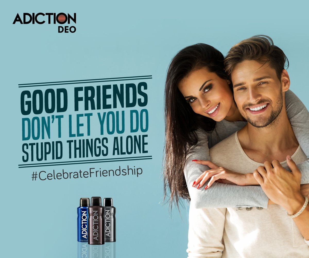 Go Crazy this Friendship Day with Adiction Deodorants. #CelebrateFriendhsip #Adiction #SmellStrong https://t.co/GdqNBZNf0I